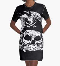 Pirates Adventure Mallorca Merchandise Skull Black Graphic T-Shirt Dress