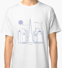 Building and skyscrapers. City view. Architecture. Classic T-Shirt