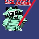 «Tanuki I´m not your father red » de belettelepink