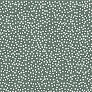 Dark Gray Green and White Polka Dots by itsjensworld
