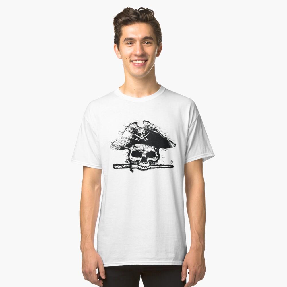 Pirates Adventure Mallorca Merchandise Skull White Classic T-Shirt Front