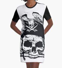 Pirates Adventure Mallorca Merchandise Skull White Graphic T-Shirt Dress