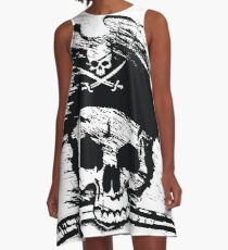 Pirates Adventure Mallorca Merchandise Skull White A-Line Dress