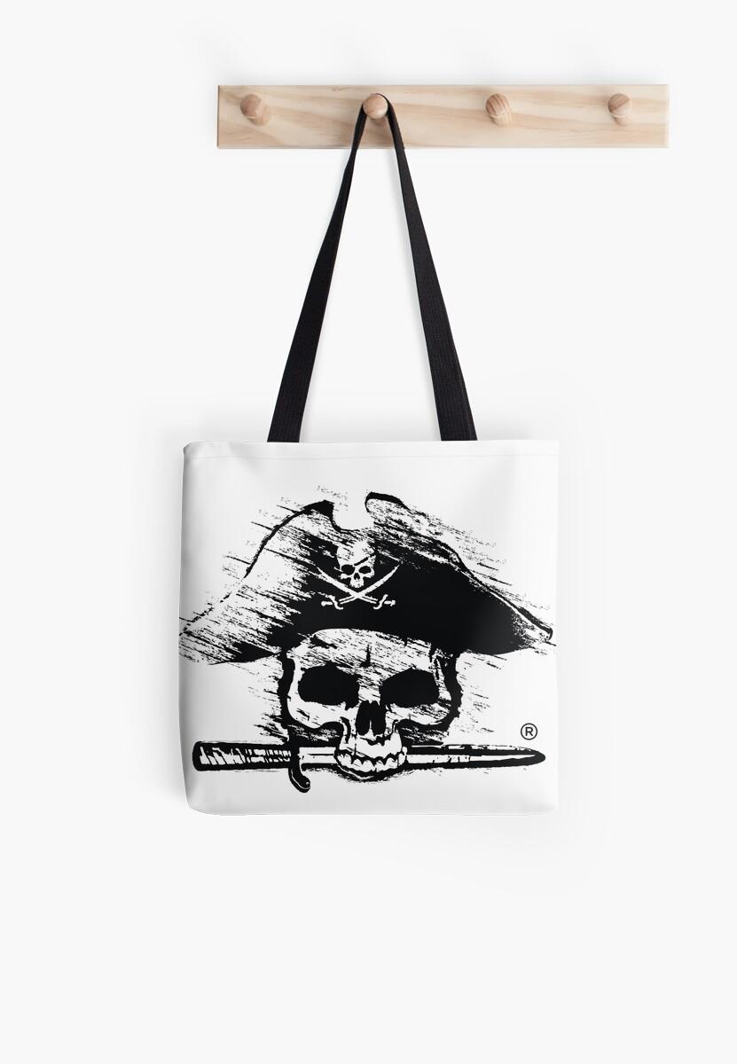 Pirates Adventure Mallorca Merchandise Skull White by PiratesMallorca
