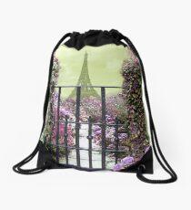 Eiffel Garden  Drawstring Bag