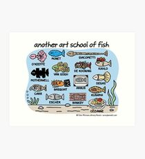 another art school of fish Art Print
