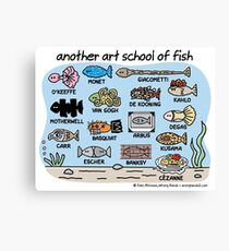 another art school of fish Canvas Print