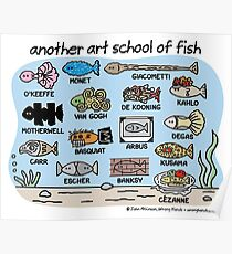 another art school of fish Poster