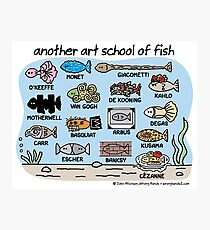 another art school of fish Photographic Print