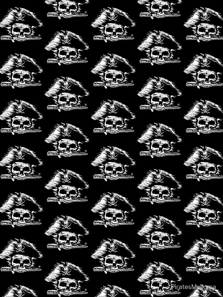 Pirates Adventure Mallorca Merchandise  Skull Black Pattern by PiratesMallorca
