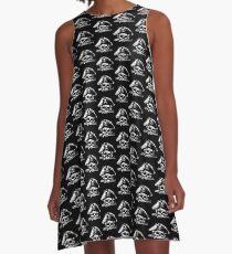 Pirates Adventure Mallorca Merchandise  Skull Black Pattern A-Line Dress