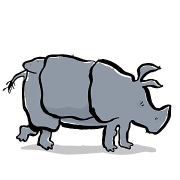 indian rhinoceros by greendeer