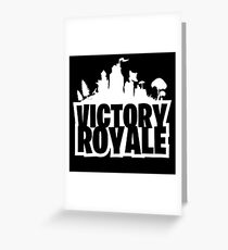 Victory Royale Fortnite Greeting Card