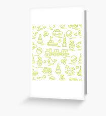 Seamless pattern with kids toys. Greeting Card