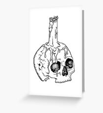 Skull Candle (gothic tattoo design) Greeting Card