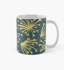 Queen Anne's Lace in Gold on Navy Classic Mug