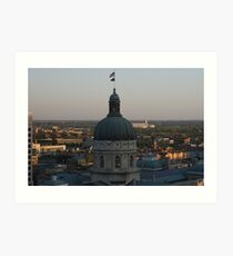 Sunrise At The Capital Art Print