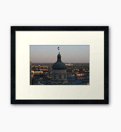 Sunrise At The Capital Framed Print