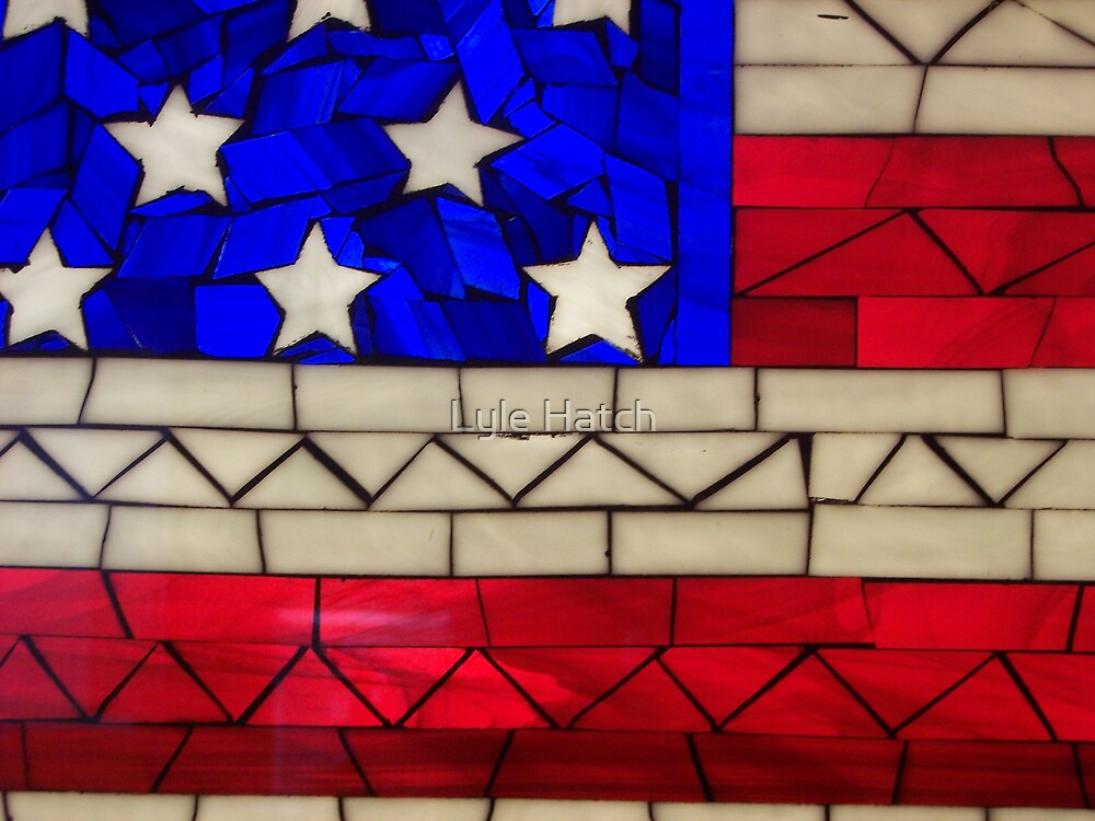 Stained Glass American Flag.Detail American Flag Stained Glass By Lyle Hatch Redbubble