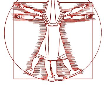 Vitruvian Pyramid Head (Red) by astraga
