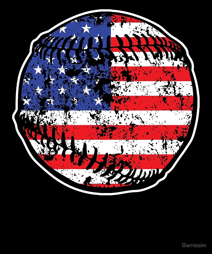 Baseball American Flag July 4 Gift