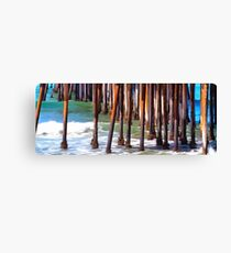 Pismo Pier Pilings Abstract Canvas Print