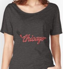 Chicago Lipstick Women's Relaxed Fit T-Shirt