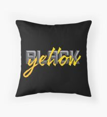 Black and Yellow Pittsburgh Fans Throw Pillow