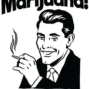 Marijuana man with style by schnibschnab