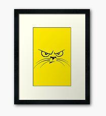 Piss Off! Cat Face Framed Print