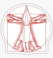 Vitruvian Pyramid Head (Red) Sticker