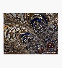 Golden Tropical Leaves Photographic Print