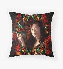 Hong Kong 1982 - a working girl Throw Pillow