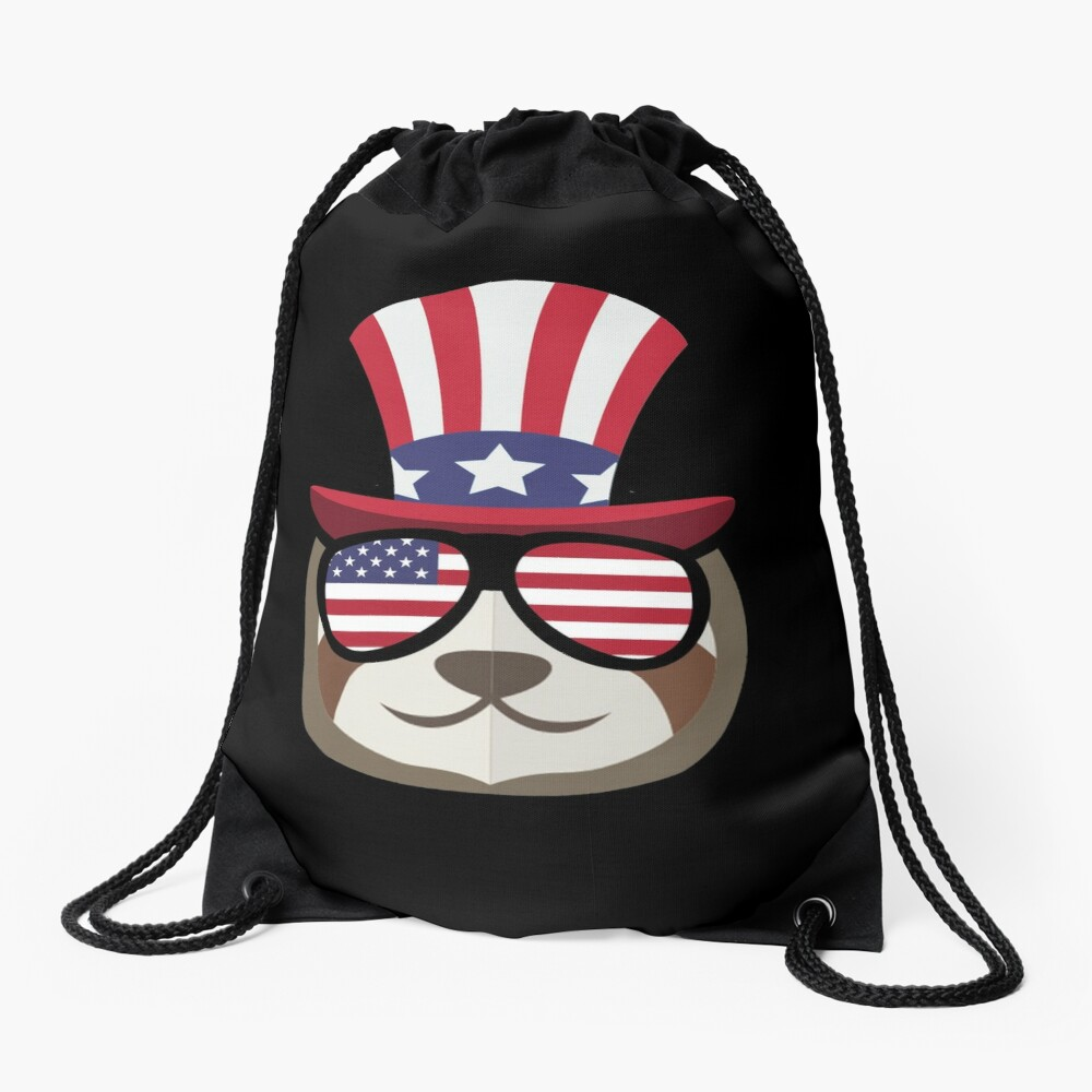 Sloth Happy 4th Of July Mochila saco