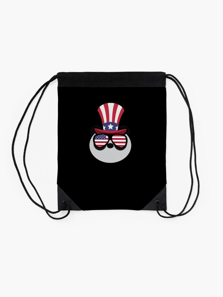 Vista alternativa de Mochila saco Panda Happy 4th Of July