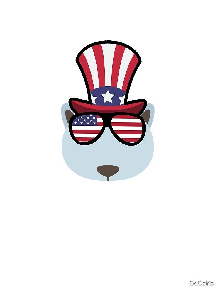 Polar Bear Happy 4th Of July de GoOsiris