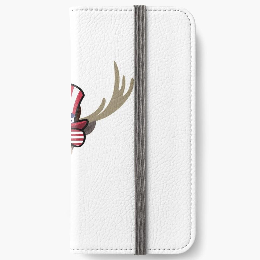 Deer Happy 4th Of July Fundas tarjetero para iPhone