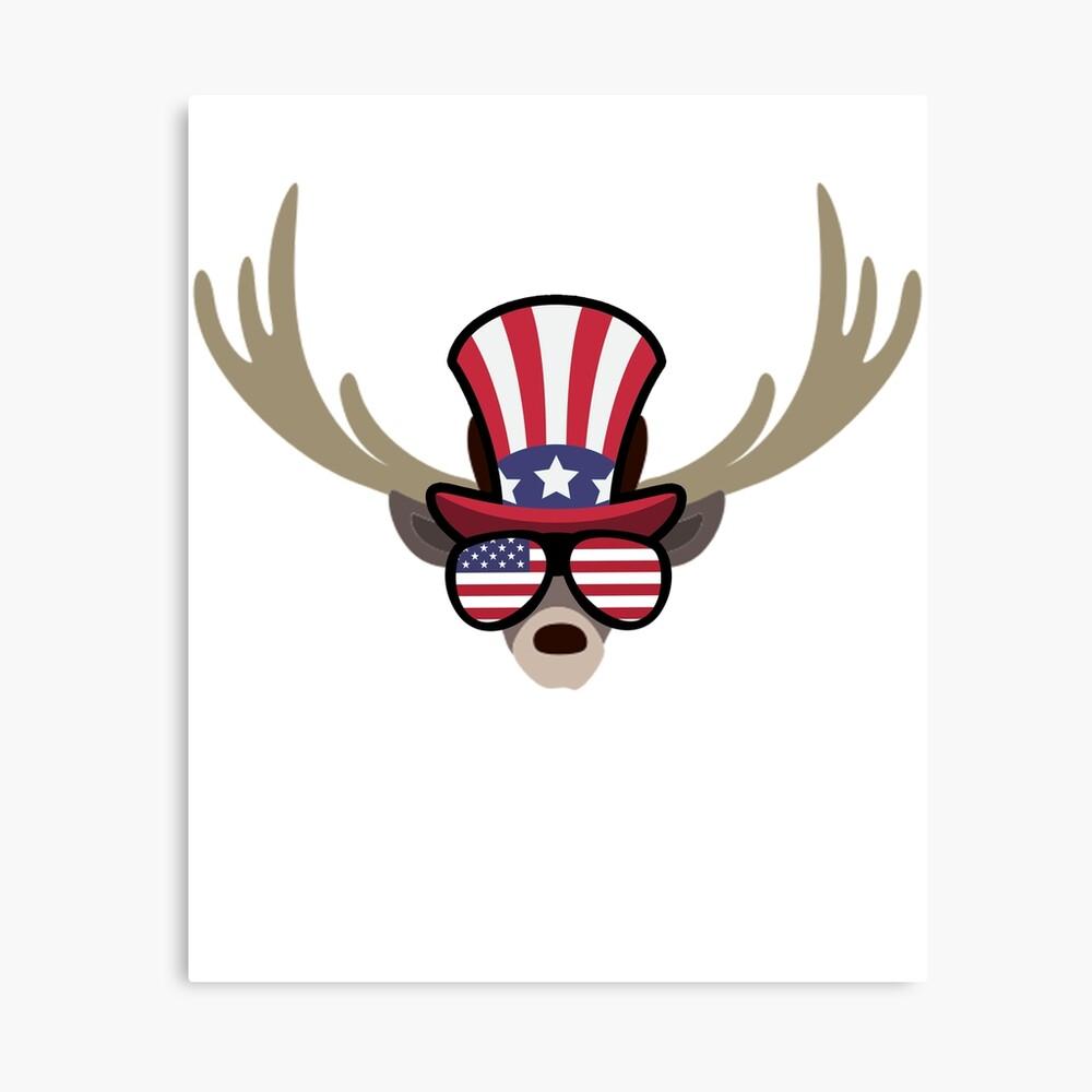 Deer Happy 4th Of July Lienzo