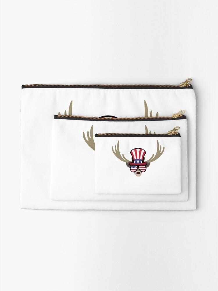 Vista alternativa de Bolsos de mano Deer Happy 4th Of July