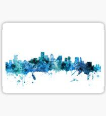 Boston Massachusetts Skyline Sticker