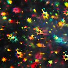 Holographic stars photographed through a prism by Karin Elizabeth
