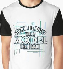 Spent The Night With A Model That I Made - Architect T-Shirt Graphic T-Shirt
