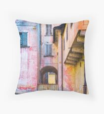 House with gate Throw Pillow