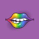 Rainbow Lips by zoljo