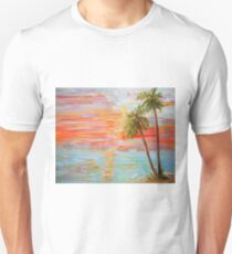 California Coast Sunset Unisex T-Shirt