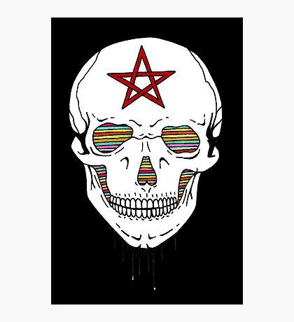 Trippy Skull Photographic Print