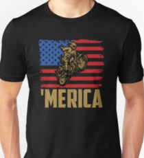 Merica Dirt Bike American Flag Unisex T-Shirt