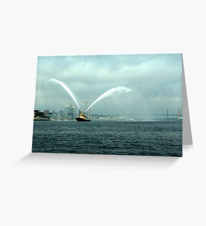 Fireboat-Halifax Greeting Card