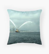 Fireboat-Halifax Throw Pillow