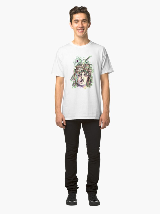 Alternate view of Alien Cephalopod Bad Hair Day Classic T-Shirt